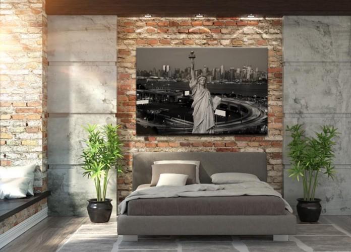 Obraz na płótnie - Statua Wolności na tle panoramy Nowego Yorku