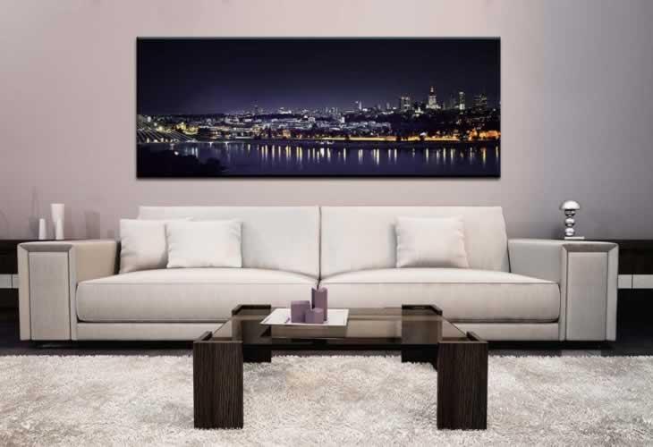 Obraz na płótnie przedstawiający miasto nocą