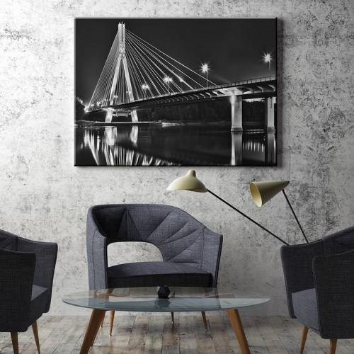 Obraz z mostem świętokrzyskim w Warszawie