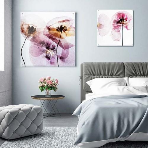 Obraz na plexi z makami do sypialni