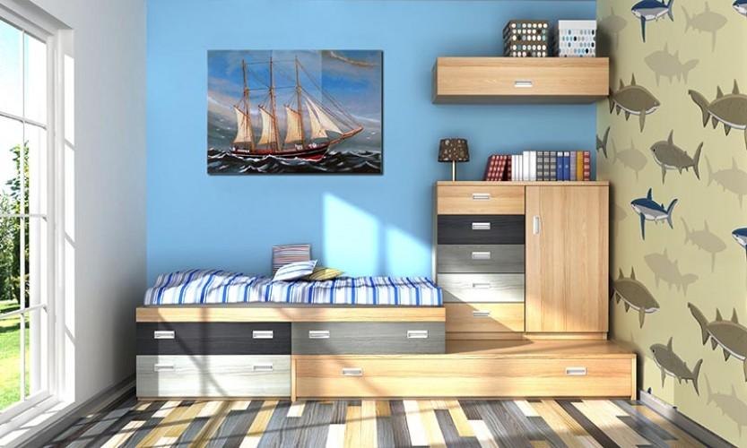 Obraz na plexi do pokoju chłopca - Statek żaglowy