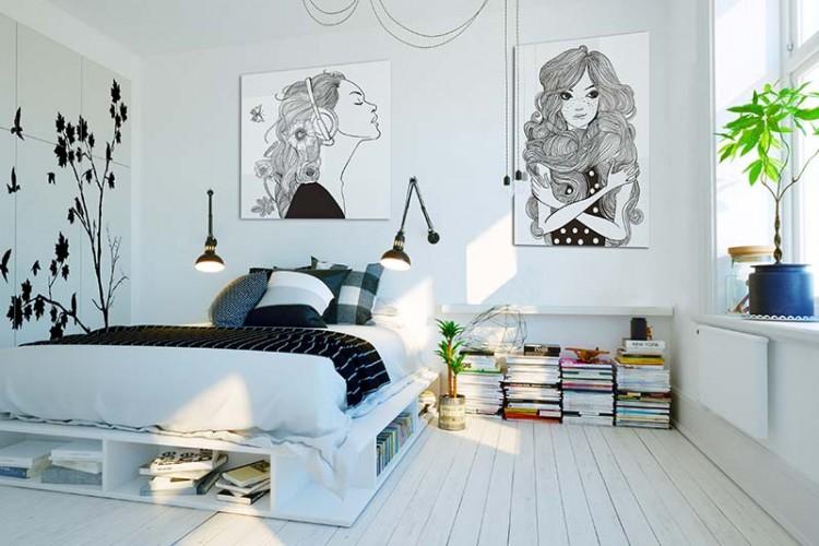 Obraz na plexi do pokoju młodzieżowego - Dziewczyna słuchająca muzyki