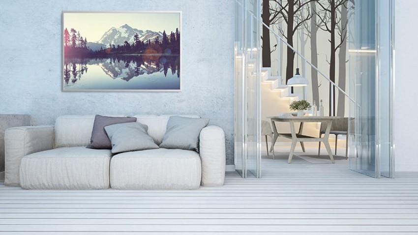 Obraz na płótnie z pięknym krajobrazem górskim
