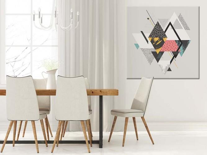 Obraz na płótnie przedstawiający abstrakcję geometryczną.