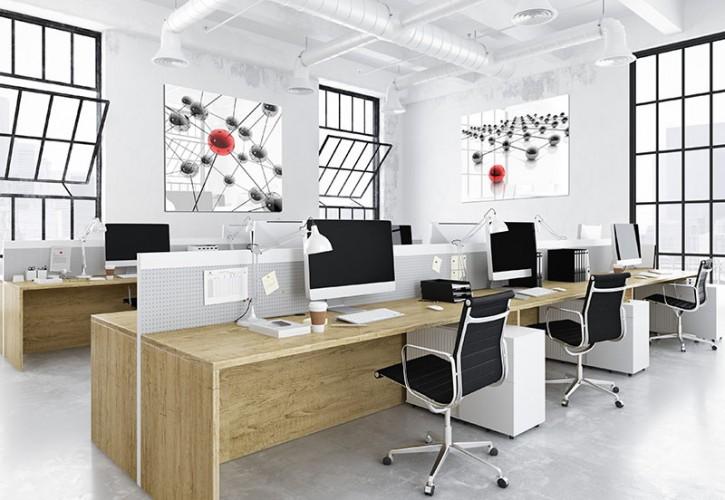 Obraz na szkle z grafiką 3D do biura