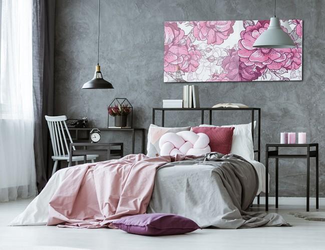 Obraz na szkle z różą do sypialni