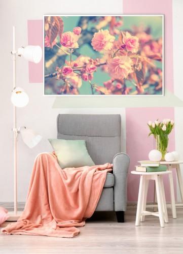 Obraz na płótnie- kwitnące kwiaty wiśni, sakura