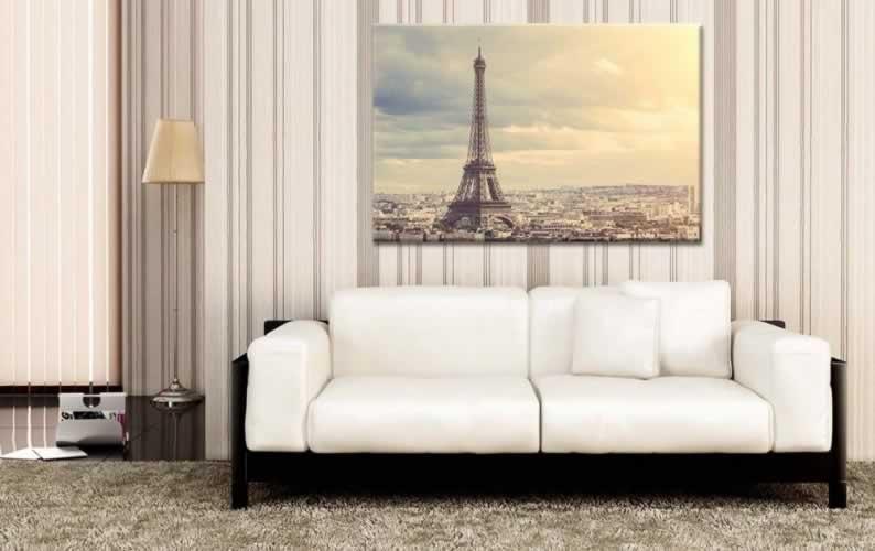 Obraz na płótnie z motywem wieży Eiffla w Paryżu