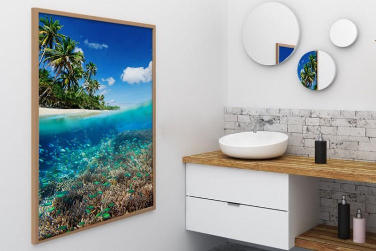 Obraz z rafa koralową do łazienki
