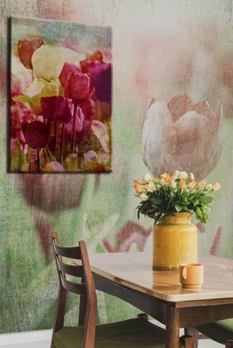 Obraz na płótnie - Tulipany w stylu retro