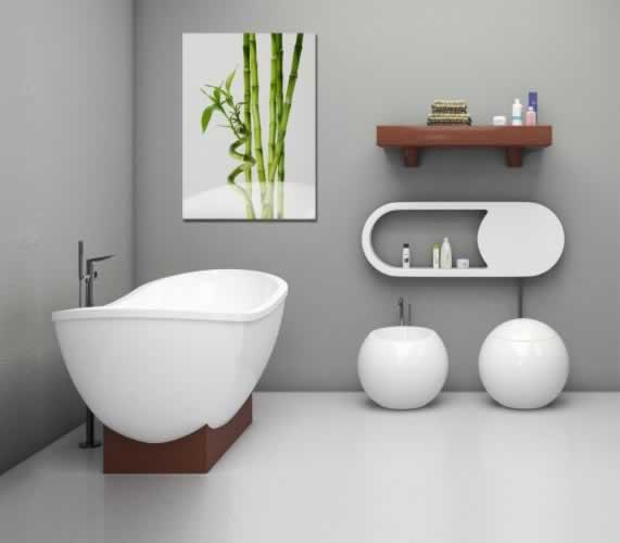 Obraz na szkle Bambus