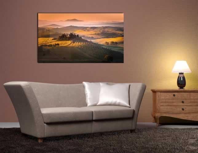 Obraz na szkle z panoramą krajobrazu