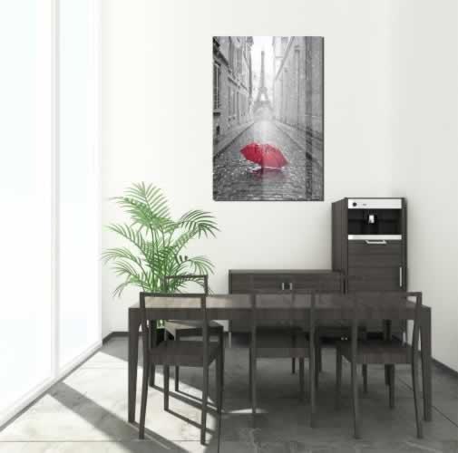 Obraz na szkle Paryż czarno-biały