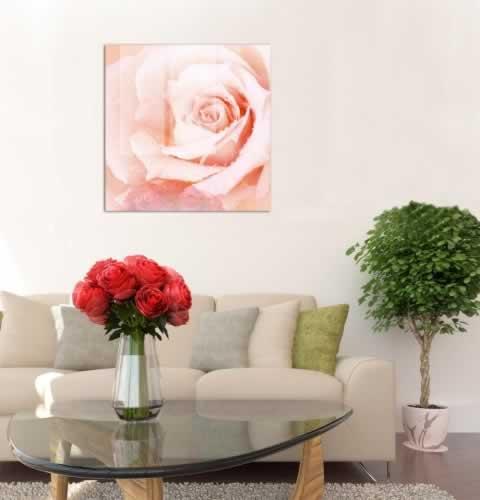 Obraz na szkle z kwiatem róży