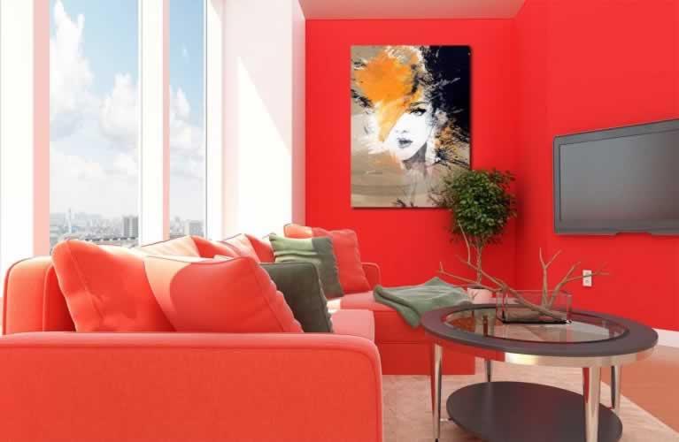 Obraz na szkle do salonu Portret kobiety
