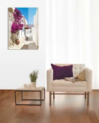 Obraz na szkle Uliczka w greckim mieście