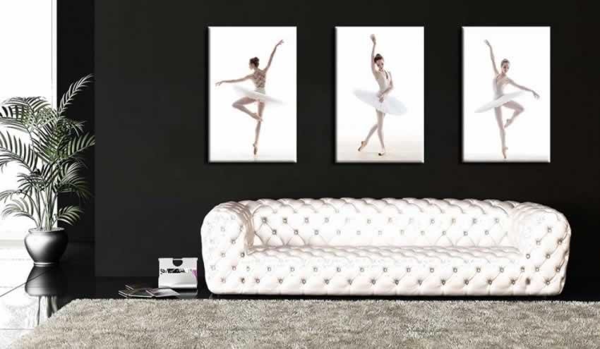 Obraz na płótnie przedstawiający tańczącą baletnicę