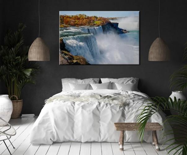 Obraz na płótnie do sypialni - Wodospad Niagara
