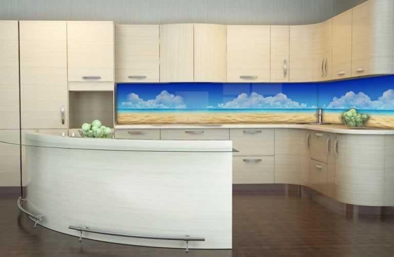 Panel szklany Plaża nad morzem