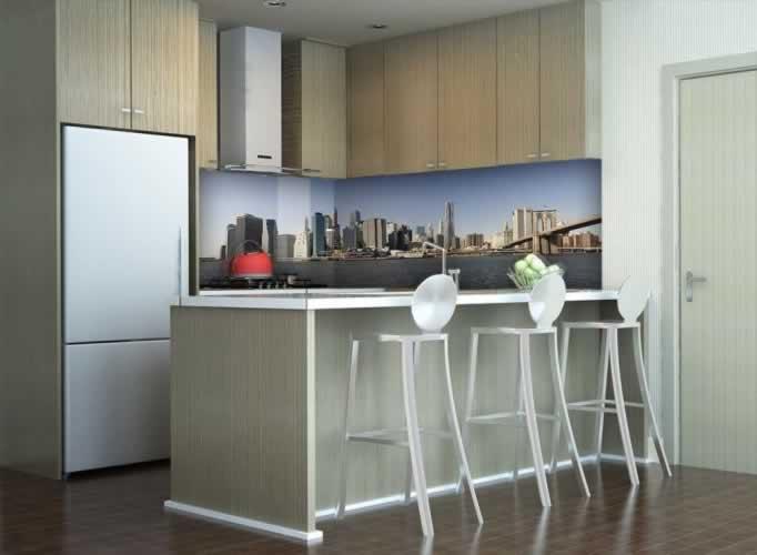Panel szklany z motywem Nowego Yorku
