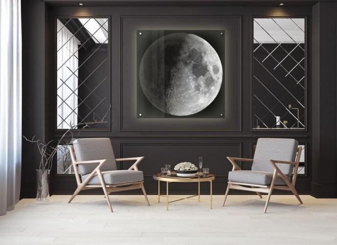 Panel podświetlany LED na dystansach - Księżyc