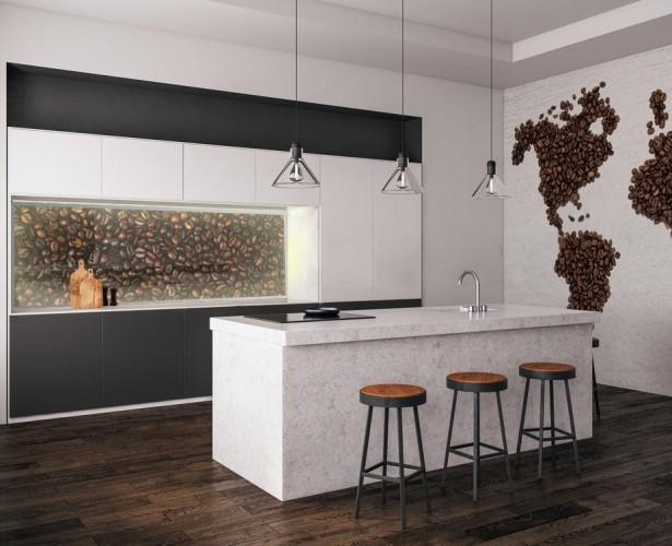 Panel podświetlany LED - Ziarna kawy