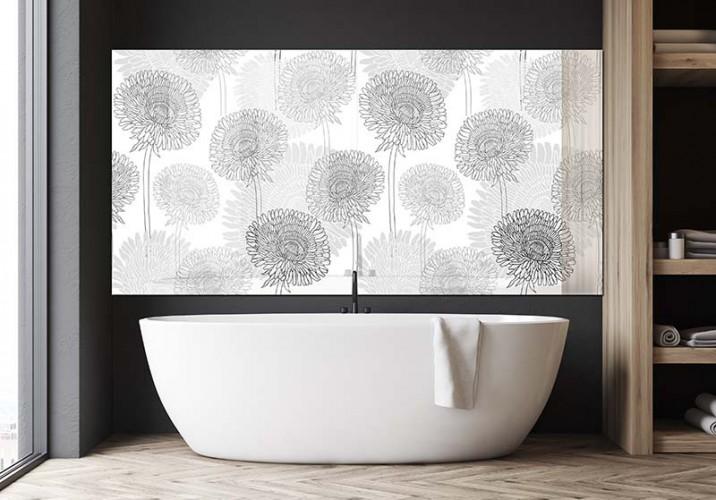 Panel szklany z motywem dmuchawców do łazienki