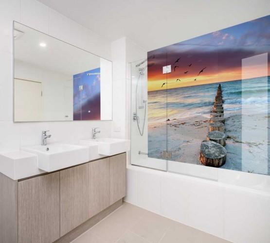 Panel szklany piaszczysta plaża