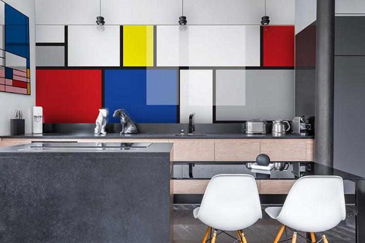 Panel szklany w stylu pop-art do kuchni