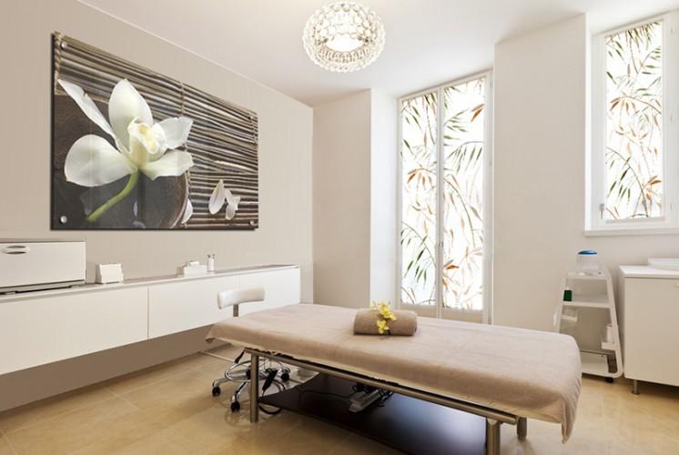 Panel szklany do Spa - Kwiat białej orchidei