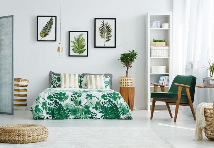 Plakat do sypialni z motywem botanicznym