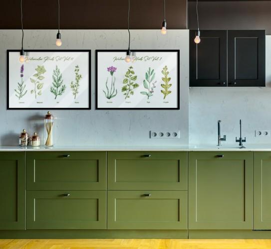 Plakat z zielnikiem do kuchni