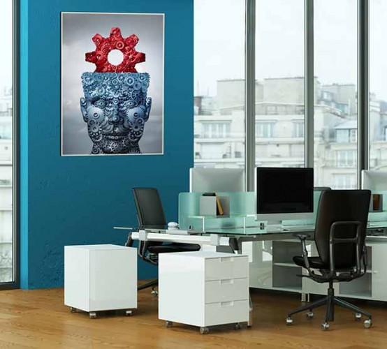 Fantazyjny plakat do biura