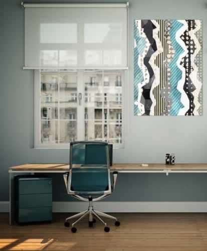 Plakat do biura z abstrakcyjnym wzorem