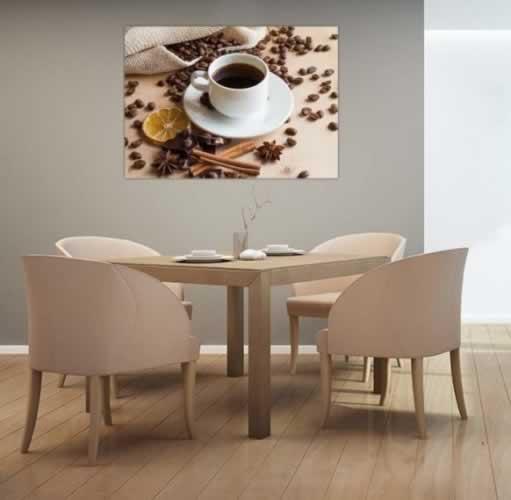 Plakat do jadalni z filiżanką kawy