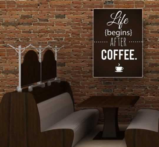 Plakat typograficzny do kawiarni