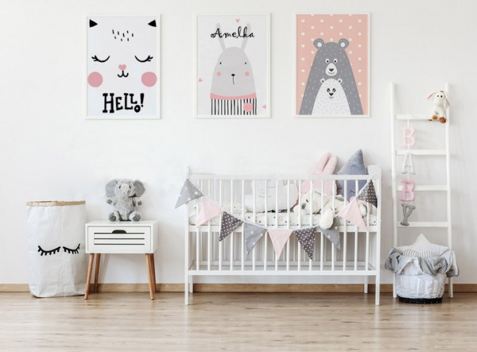 Plakat do pokoju dziecka z kotkiem
