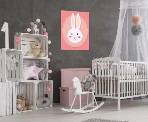 Plakat do pokoju dziecka z króliczkiem