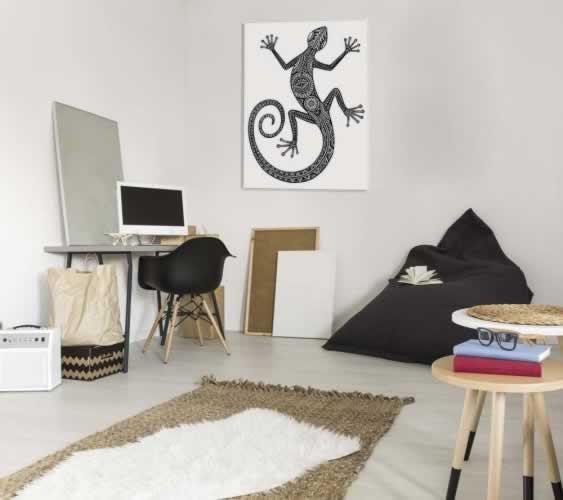Plakat do pokoju młodzieżowego z jaszczurką