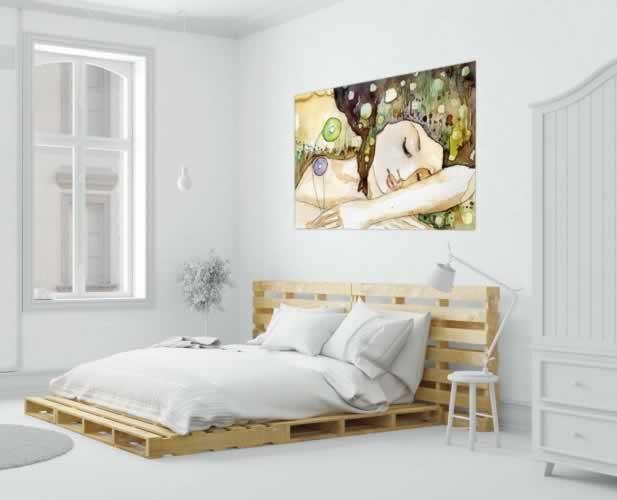 Plakat do sypialni Piękna senna dziewczyna