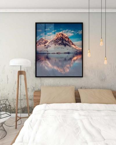 Plakat z górami do wnętrza industrialnego