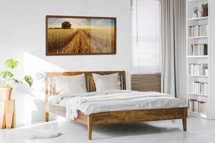 Plakat z krajobrazem wiejskim do sypialni