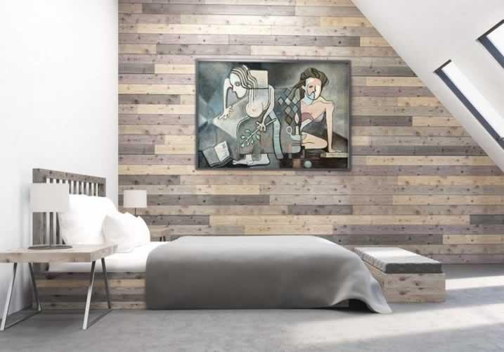 Plakat inspirowany malarstwem w stylu kubistycznym