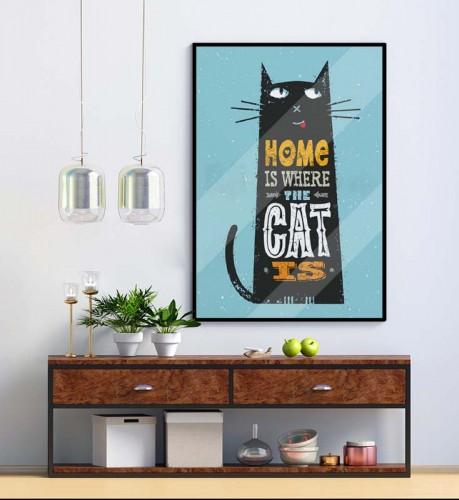 Plakat z napisami - Kot