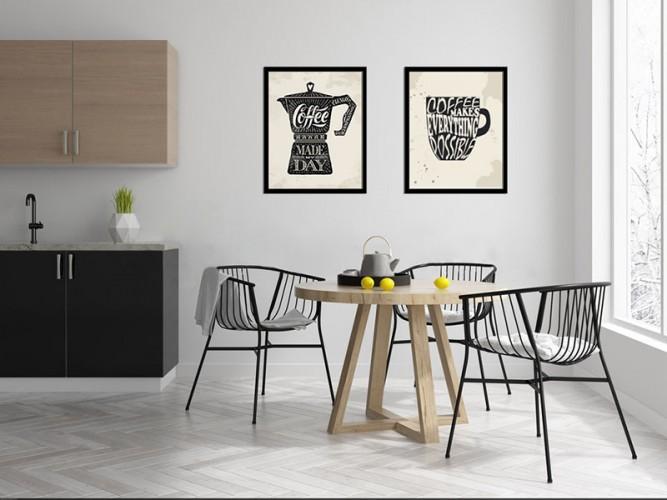 Plakat z napisami do kuchni - Kubek z kawą