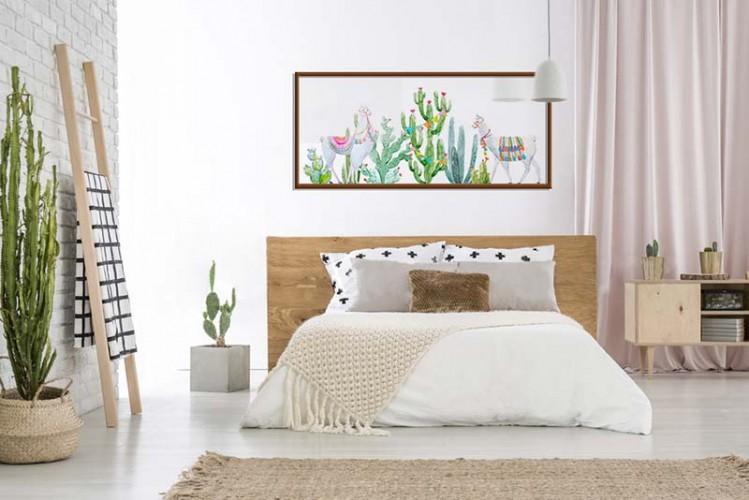 Plakat z kaktusami do sypialni