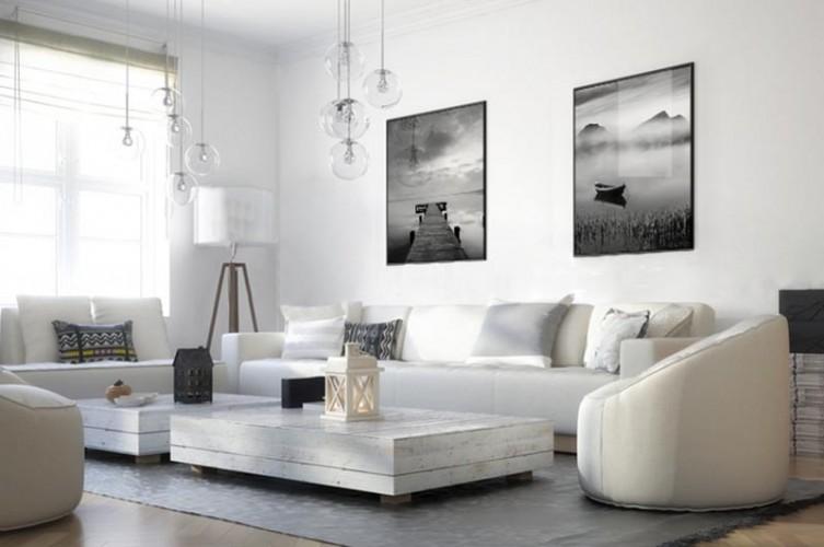 plakat czarno-biały z molo