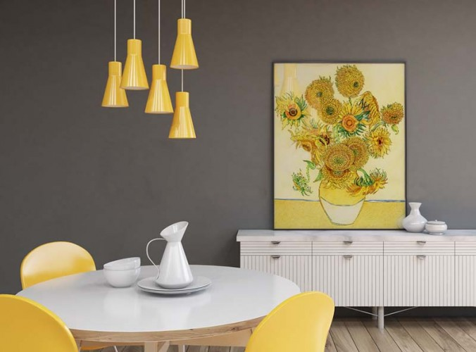 Plakat ze słonecznikami van Gogha