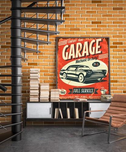 Plakat w stylu vintage - Samochód retro