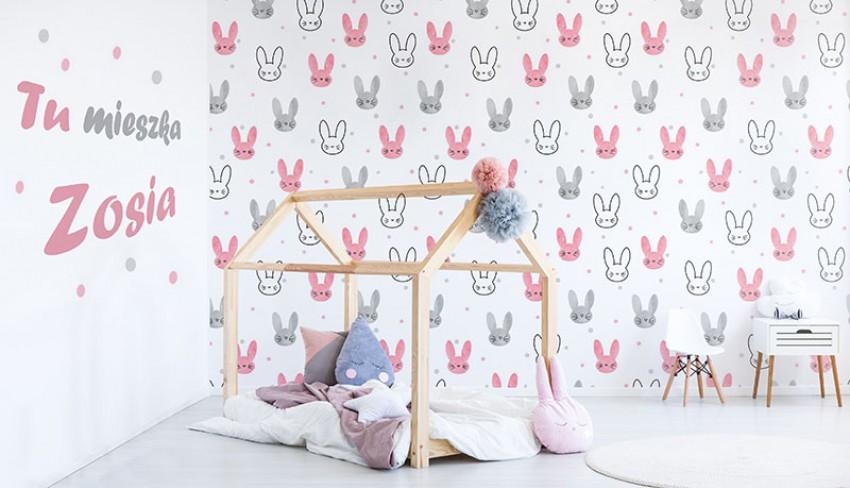 Fototapeta z króliczkami do pokoju dziecięcego